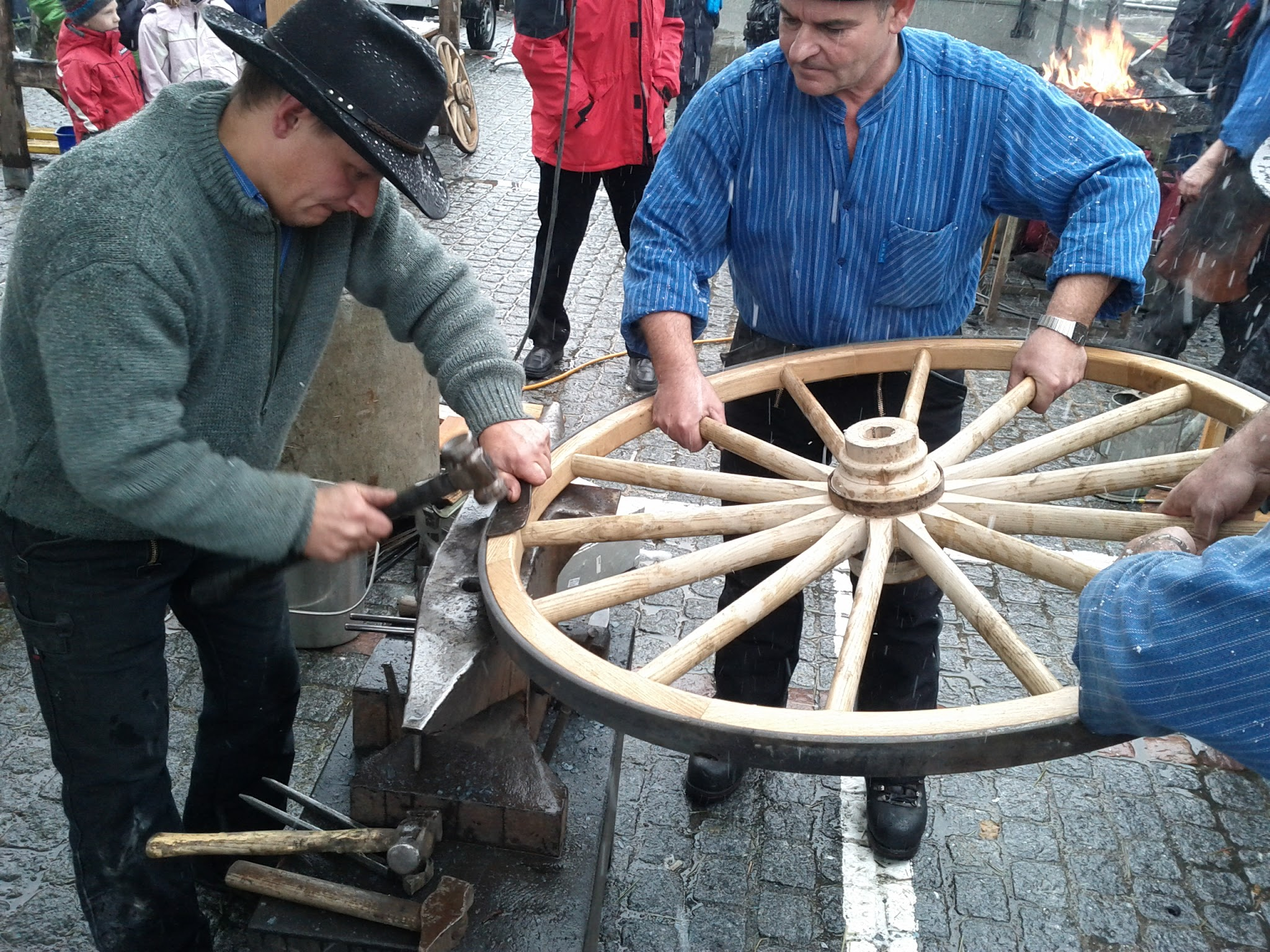 Mediaeval cartwheel-making