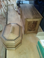 Beautiful mediaeval inlaid jewelry boxes