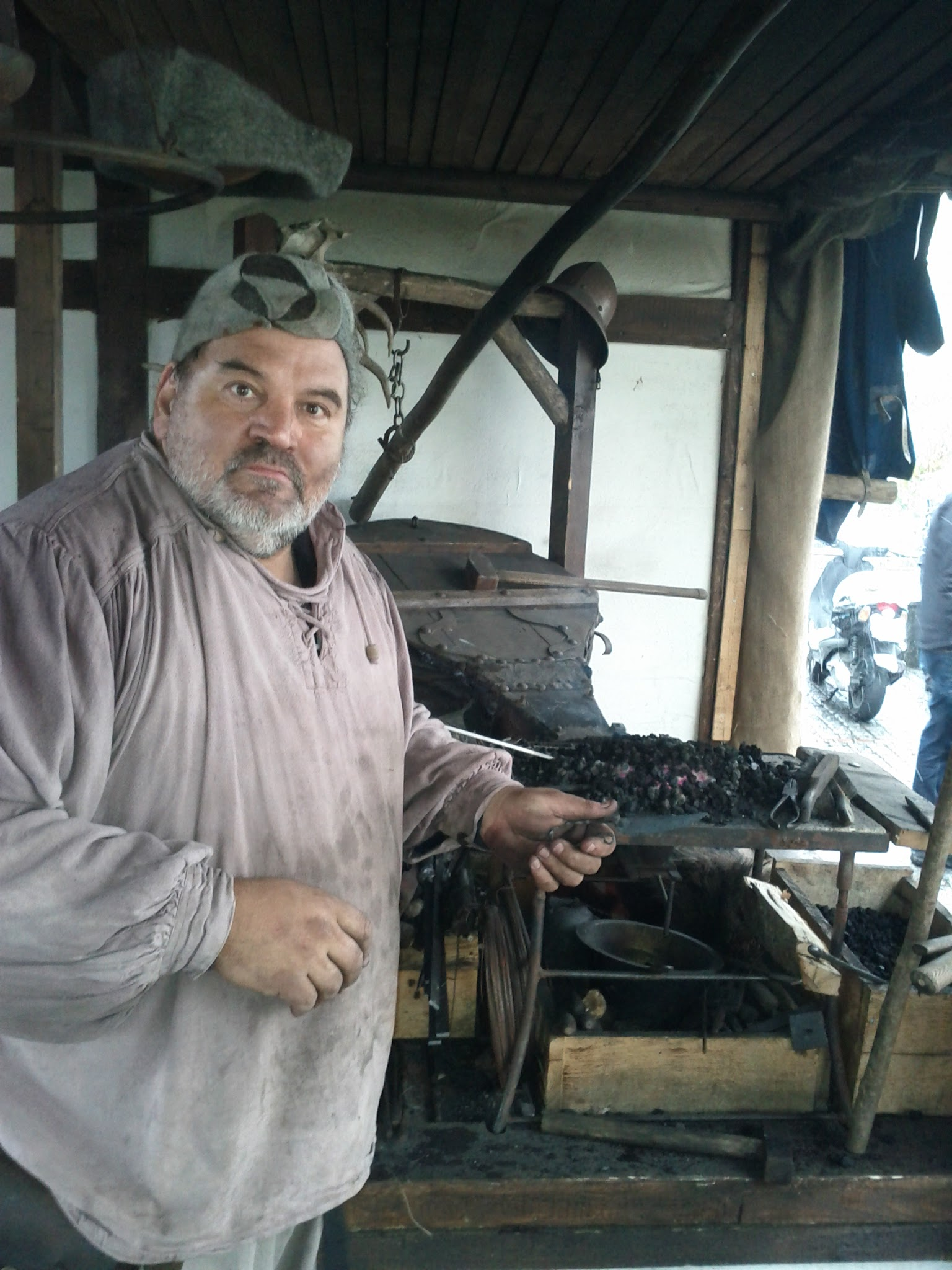 Mediaeval smith at work