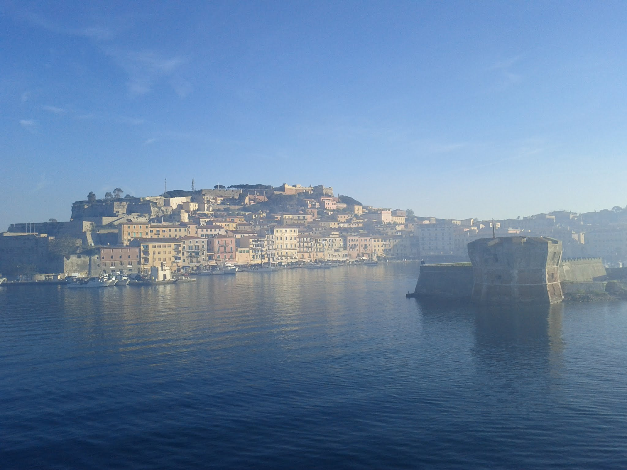 Portoferraio from the ferry