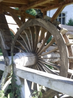 Roman era water-wheel