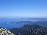 View east from Monte Capanne